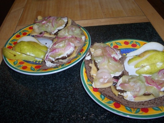 Finnish style open-faced sandwich