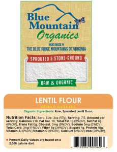 Lentil Flour, 20 oz