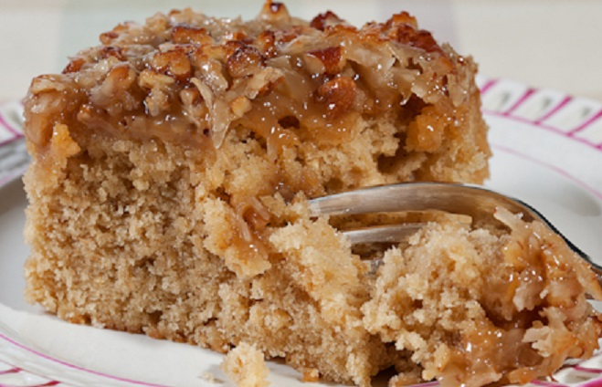 Old Fashioned Applesauce Cake With Caramel Icing
