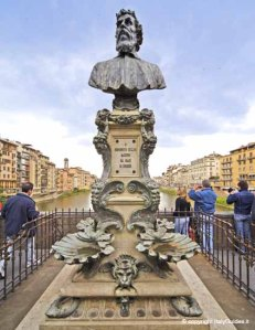 Bust of Benvenuto Cellini on the Ponte Vecchio, Florence