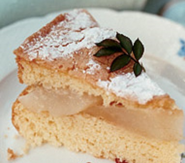 almond-cake-pears