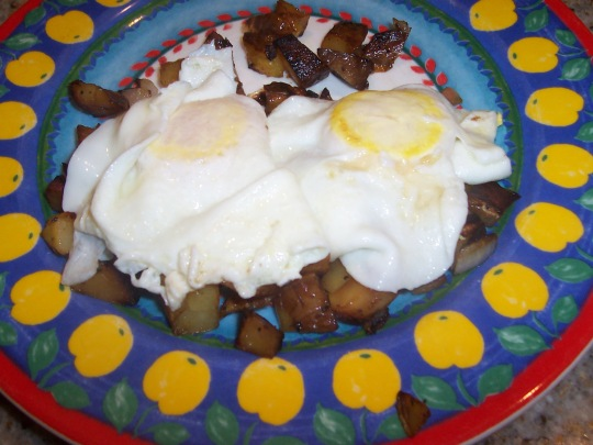 Eggs Over Hash Browns