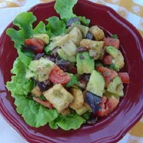 basil Tuscan-Bread-Salad