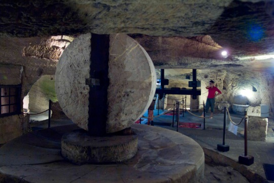 The subterranean oil mill of Palazzo Granafei.