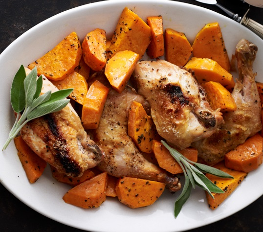 Roast Chicken with Butternut Squash