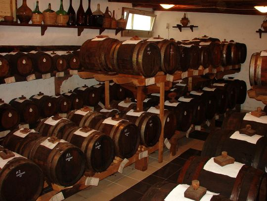Barrels of Traditional Balsamic Vinegar
