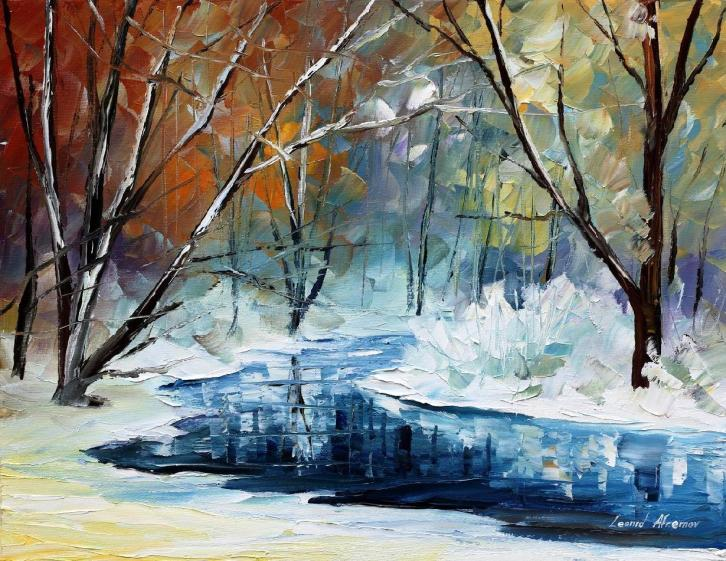 LOST IN WINTER  by Leonid Afremov