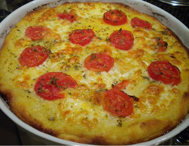 Pizza di Patate Pugliese (Tomato-and-Cheese-Topped Potato Pizza)