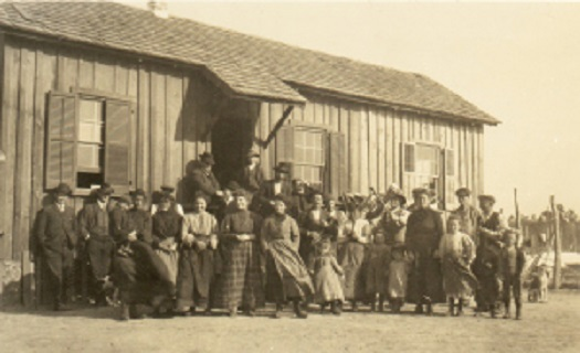 Residents of St. Helena, all from Northern Italy, about 1908. (Courtesy of Julia Morton and NC Dept. of Archives and History)