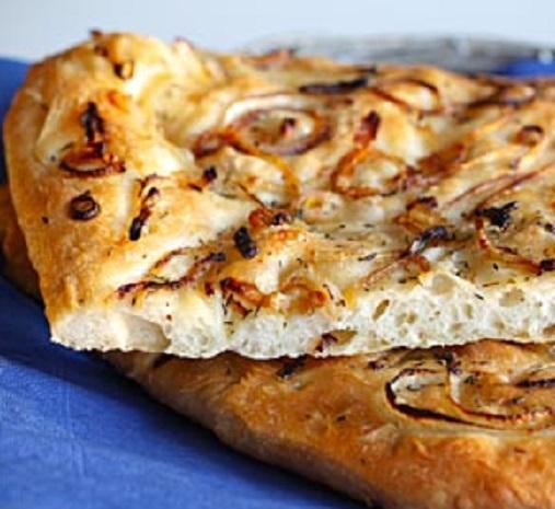 onion foccacia bread bites