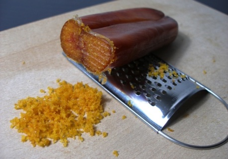 bottarga (salted, pressed and dried mullet eggs)