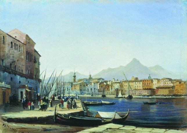 Palermo by Alexey Petrovich Bogolyubov, 1850