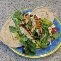 Grilled Chicken Tenders Over Greek Salad