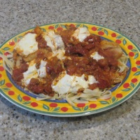 Flounder Poached in Marinara Sauce