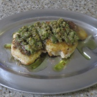 Grilled Swordfish with Lemon Olive Salad