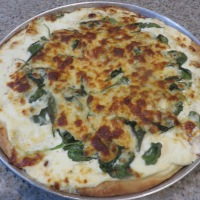 Pizza Bianca With Spinach